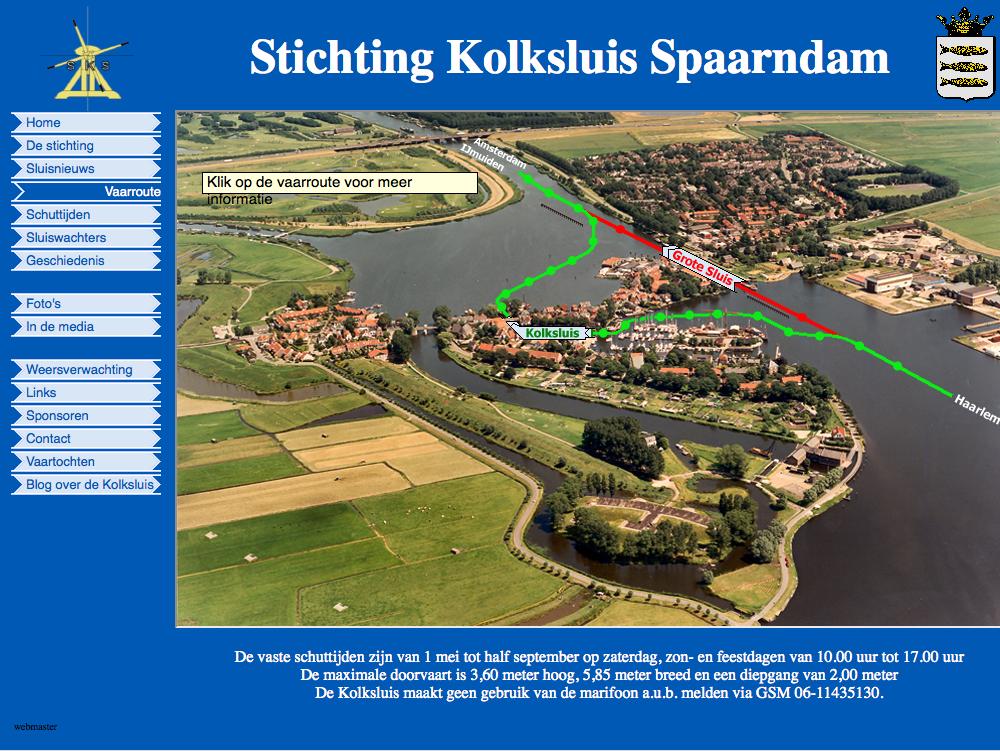 Vaar door de Kolksluis Spaarndam