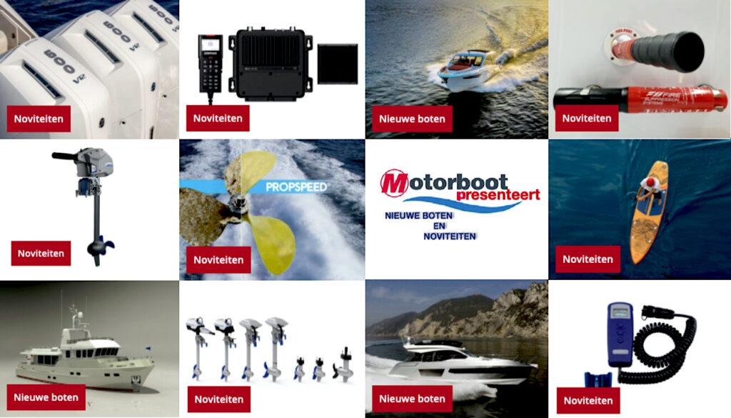 Motorboot Presenteert online